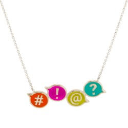 Chit Chat #!@? Necklace