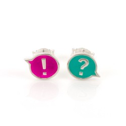 Chit Chat !? Stud Earrings