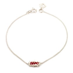 Dainty Bam! Enamel Bracelet