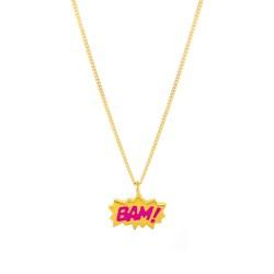 Dainty Bam! Enamel Necklace