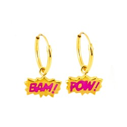 Bam! & Pow! Hoop Earrings