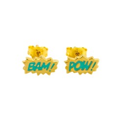 Dainty Bam! & Pow! Enamel Stud Earrings
