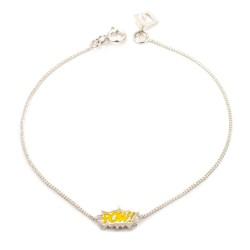 Dainty Pow! Enamel Bracelet