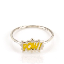 Dainty Pow! Stacking Ring