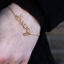 Rosie wears the Dreamy Bracelet