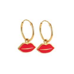 Femme Bisous Hoop Earrings