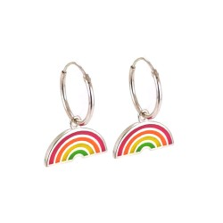 Femme Rainbow Hoop Earrings