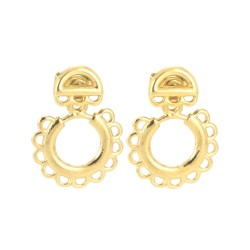 Femme Soleil Ear Jackets with Femme Sunrise Studs