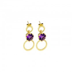 Majestic Gem-Set Drop Earrings