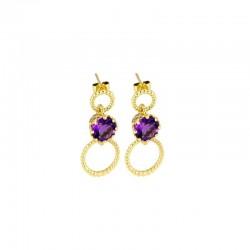 Majestic Gem-Set Drop Earrings