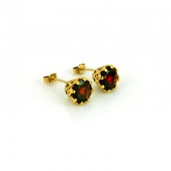 Majestic Gem-Set Stud Earrings