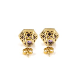 Promise Gem-Set Stud Earrings Detail