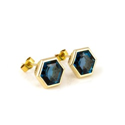 Promise Gem-Set Stud Earrings London Blue Topaz