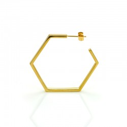 Classics Large Hex Hoop Earrings - side view