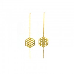 Promise Lattice Thread Through Earrings