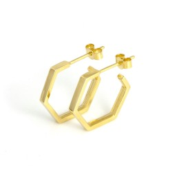 Classics Small Hex Hoop Earrings