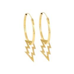 Lightning Hoop Earrings