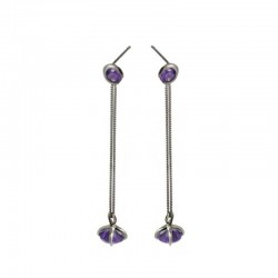 Talon Gem-Set Drop Earrings