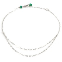 Written Double Chain Anklet