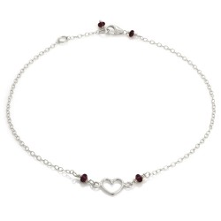 Written Heart Anklet