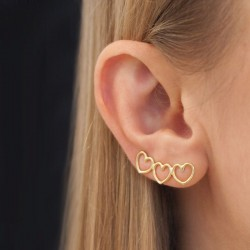 Written Heart Ear Climber