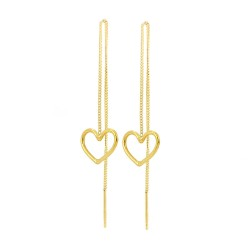 Heart Thread Through Earrings
