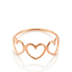 Written Multi Heart Ring