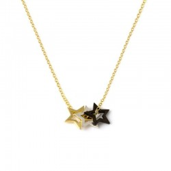Written Multi Star Necklace