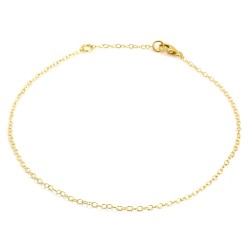 Written Simple Chain Anklet