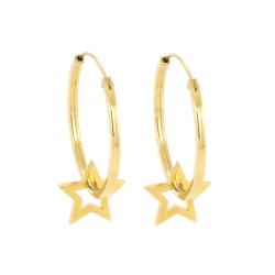 Written Star Hoop Earrings