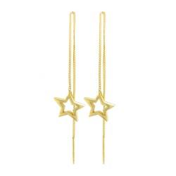 Star Thread Through Earrings