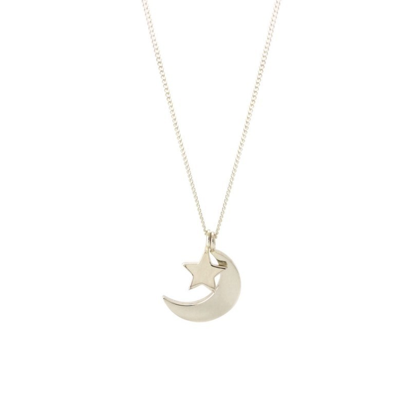 Laura Gravestock Jewellery Dainty Moon Amp Star Necklace