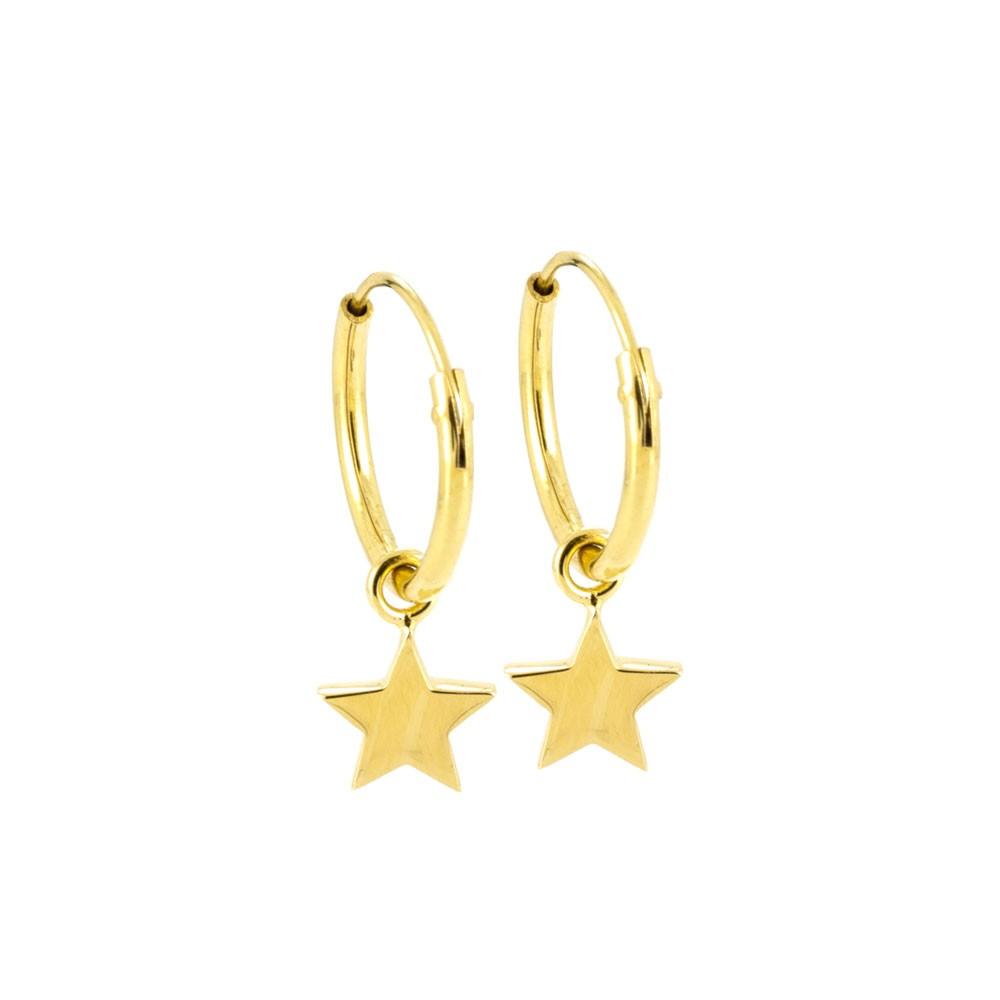 97760dbdf9c36 Laura Gravestock Jewellery - Dainty Star Hoop Earrings - by Laura ...