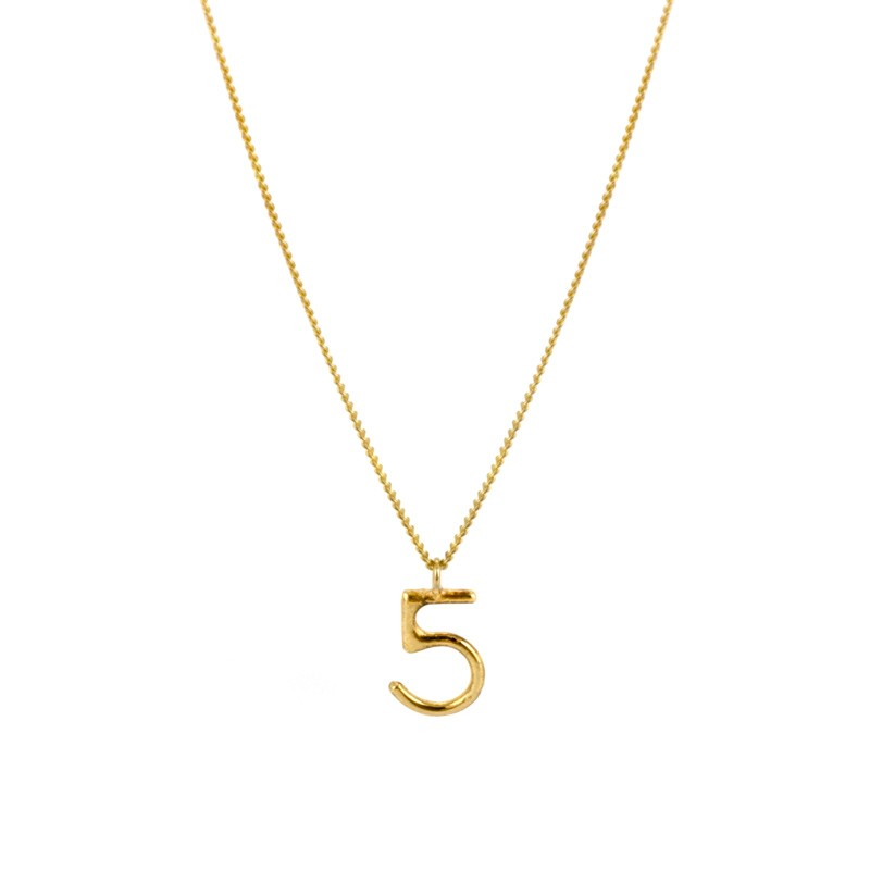 Written Single Lucky Number Necklace