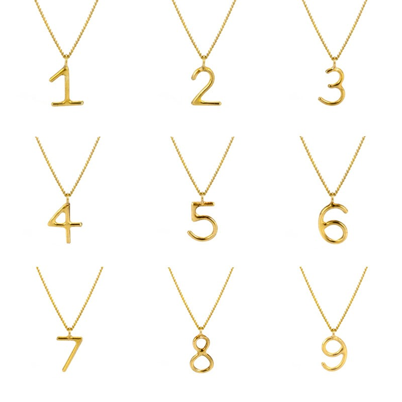 Laura gravestock jewellery written single lucky number necklace add to wishlist add to compare written single lucky number necklace aloadofball Image collections