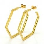 Classics Large Hex Hoop Earrings
