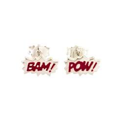 Dainty Bam! & Pow! Enamel Stud Earrings