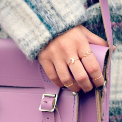 Dainty Moon Stacking Ring