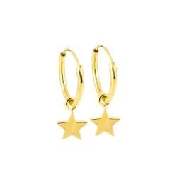 Dainty Star Hoop Earrings
