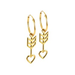 Amour Hoop Earrings