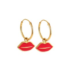 Bisous Hoop Earrings