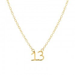 Written Lucky Number Necklace