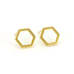 Hexagonal Stud Earrings
