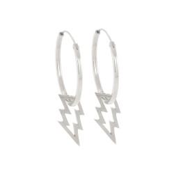 Struck Hoop Earrings