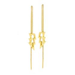 Struck Thread Through Earrings
