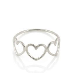 Written Multi Heart Ring