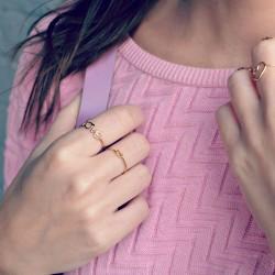 Written Tiny Knot Ring